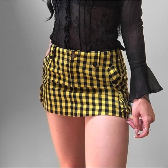 f6a86c269 Abbey Dawn Skirts | 90s Clueless Yellow Plaid School Girl Skirt ...